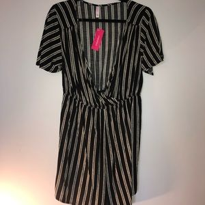 Black and white striped xhilaration romper
